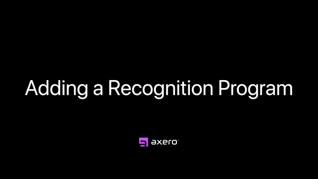 Adding a Recognition Program