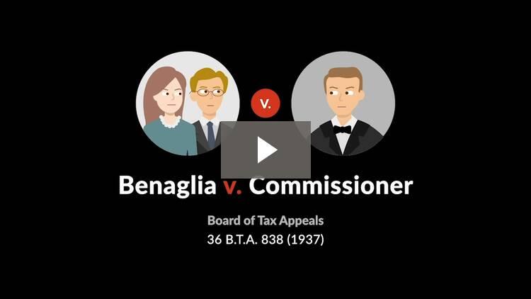 Benaglia v. Commissioner