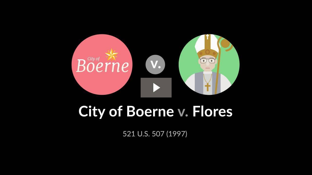 City of Boerne v. Flores