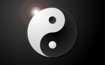 Aplicando Luz e Sombra no símbolo Yin-Yang