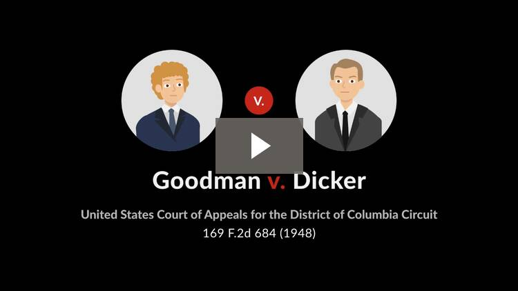 Goodman v. Dicker