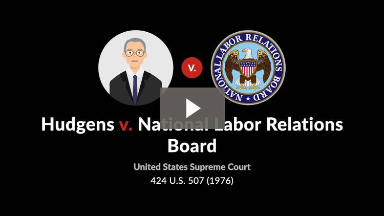 Hudgens v. National Labor Relations Board