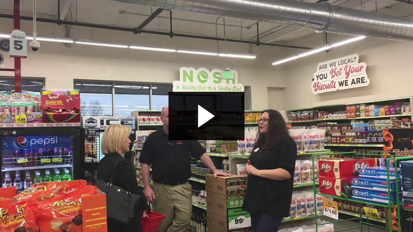 Senator Collett Tours the Warminster Grocery Outlet :: December 2019