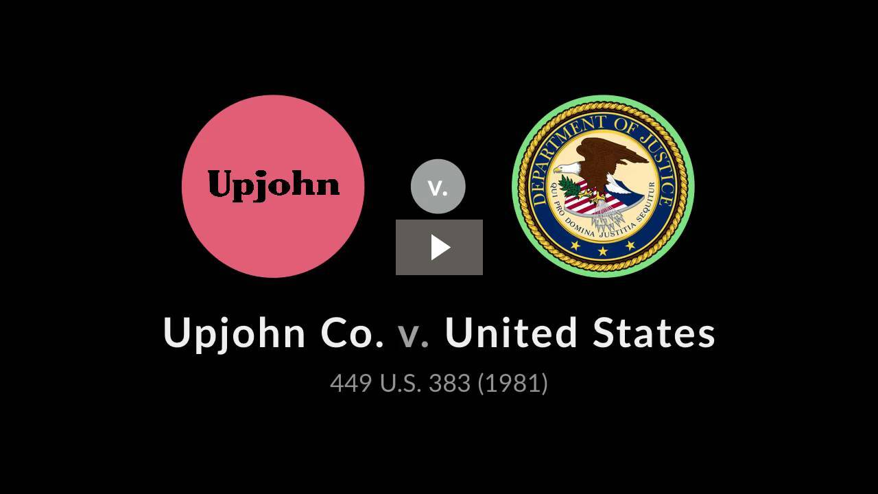 Upjohn Co. v. United States