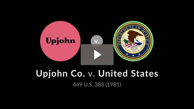 Upjohn Co. v. United States