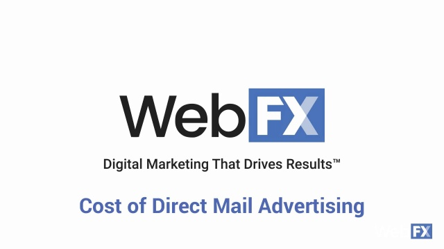 Direct Mail Services Pricing