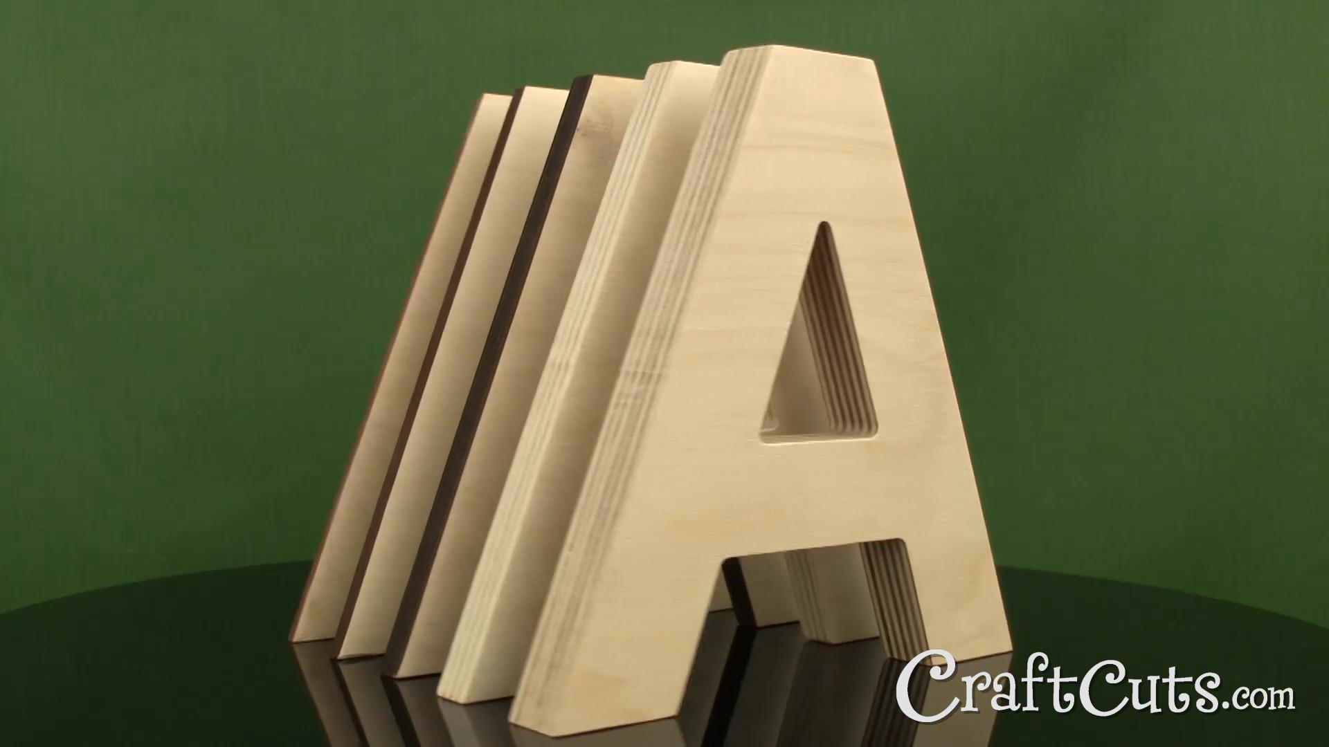 Script Wood Letters - Cursive Wood Letters | Craftcuts.com