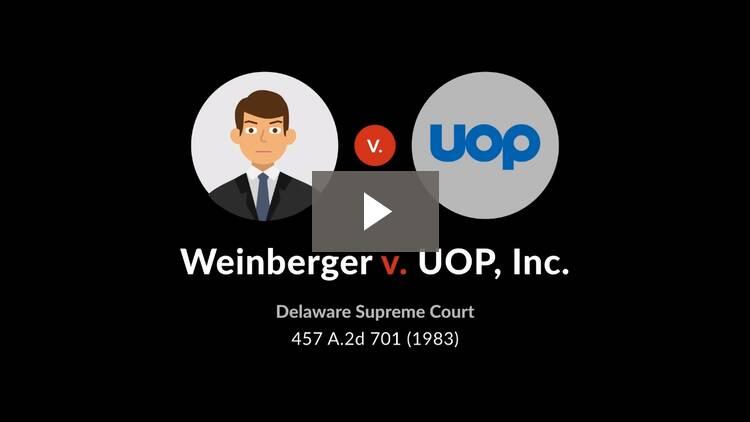 Weinberger v. UOP, Inc.