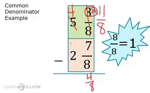 Subtract mixed numbers: regrouping | LearnZillion