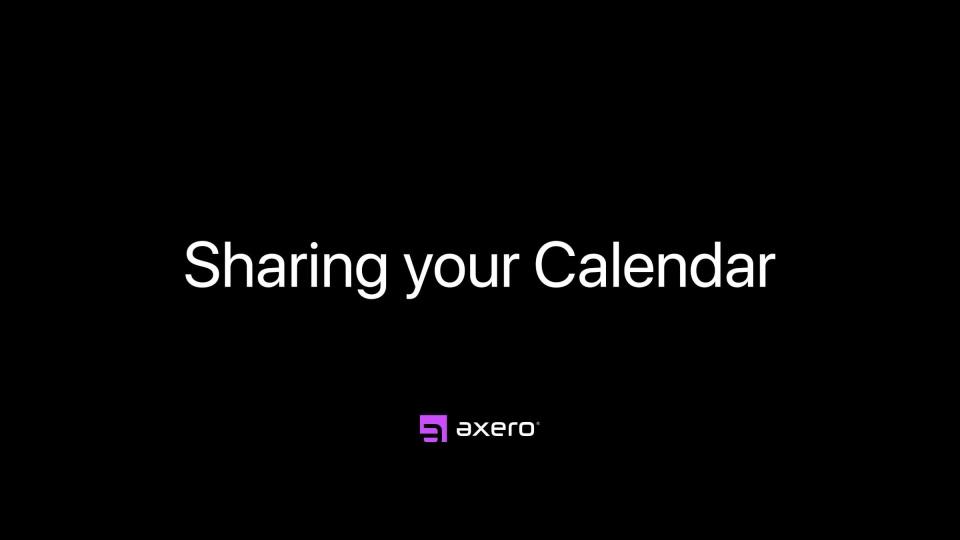 Sharing your Calendar