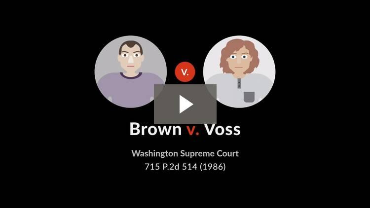 Brown v. Voss