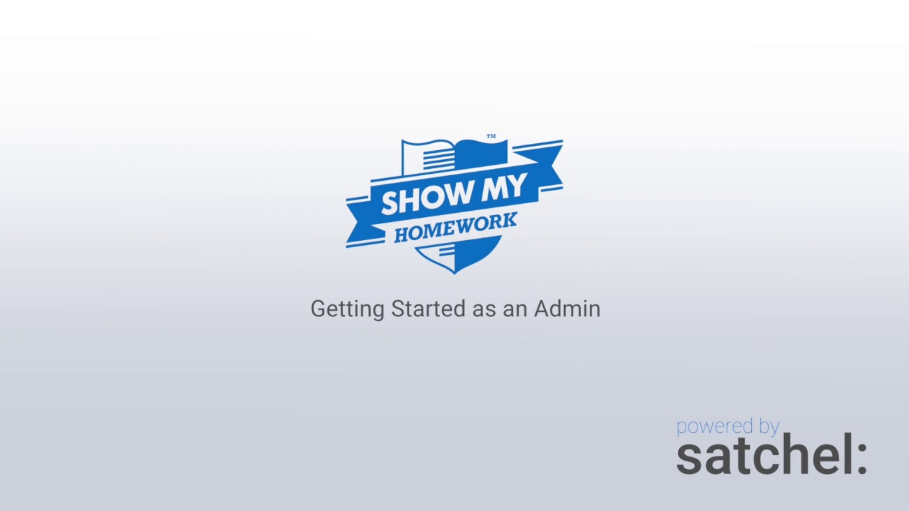 Getting Started as an Admin