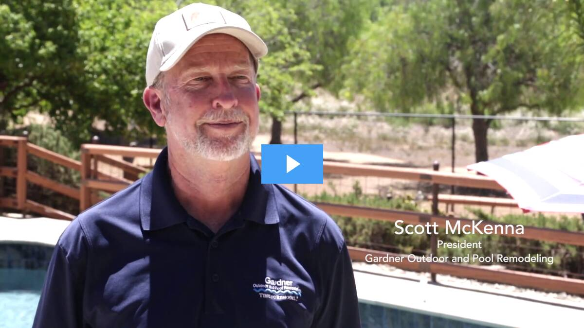 Scott McKenna, President of Gardner Outdoor and Pool Remodeling