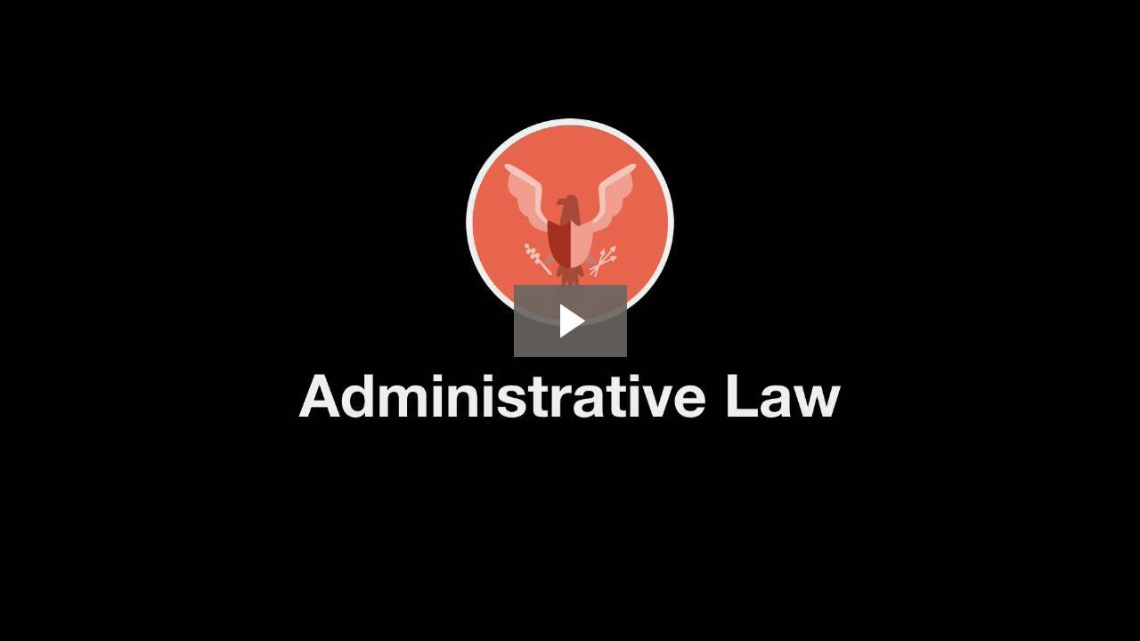 Welcome to Administrative Law