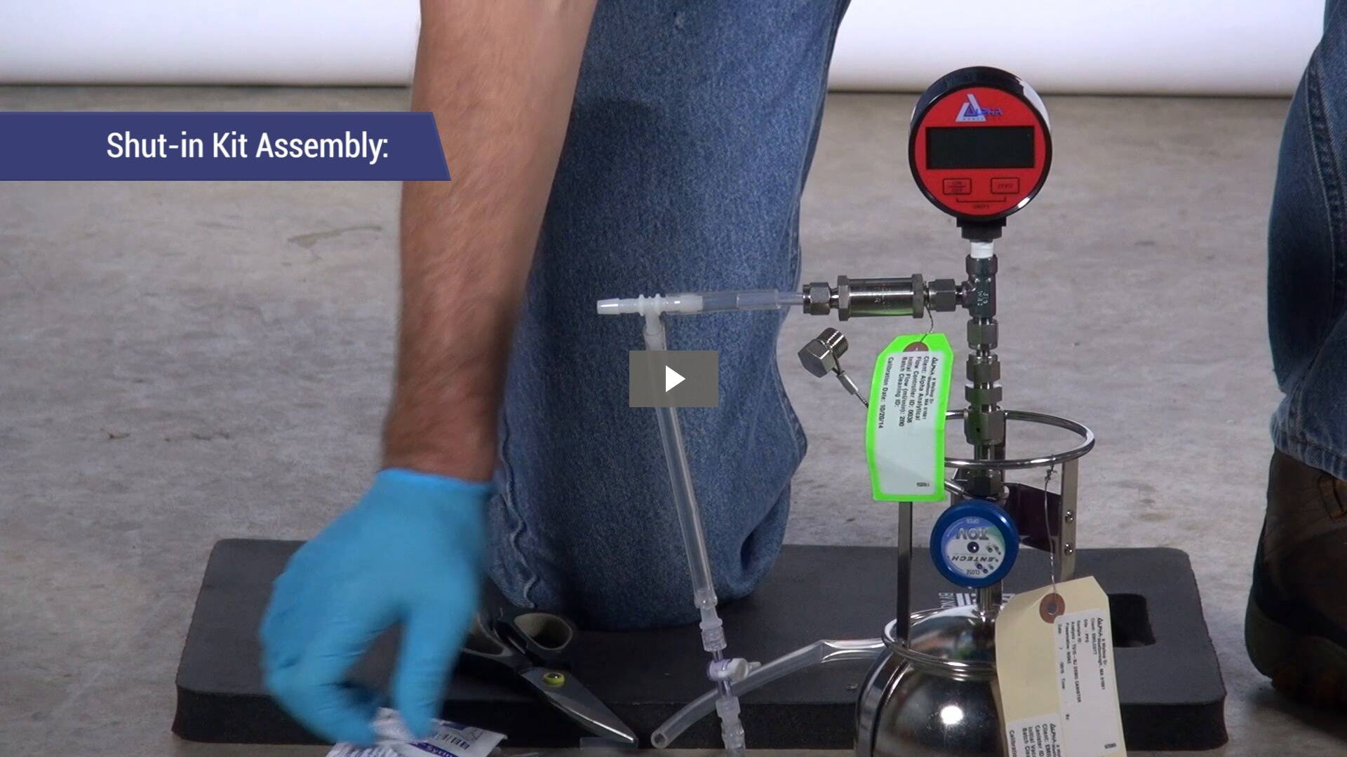 Click here to view the Alpha Analytical Component Assembly and Shut in Leak Check Demonstration Video