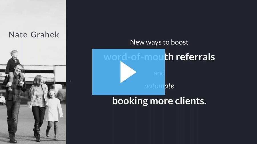 New ways to boost word-of-mouth referrals and automate booking more clients - for current Albums customers