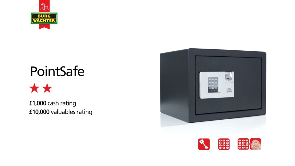 Burg Wachter PointSafe P2S Key Safe