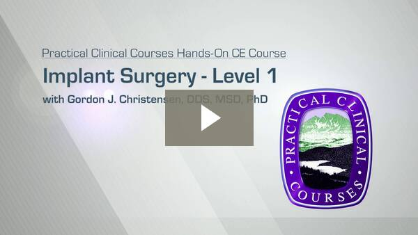 Implant Surgery - Level 1