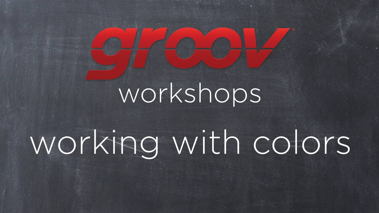 Working with colors in groov