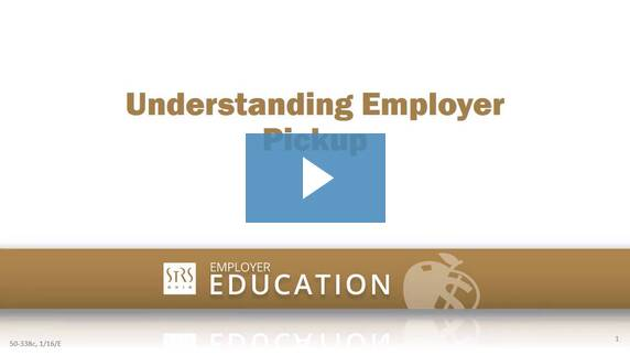 Thumbnail for the 'Understanding Employer Pickup' video.