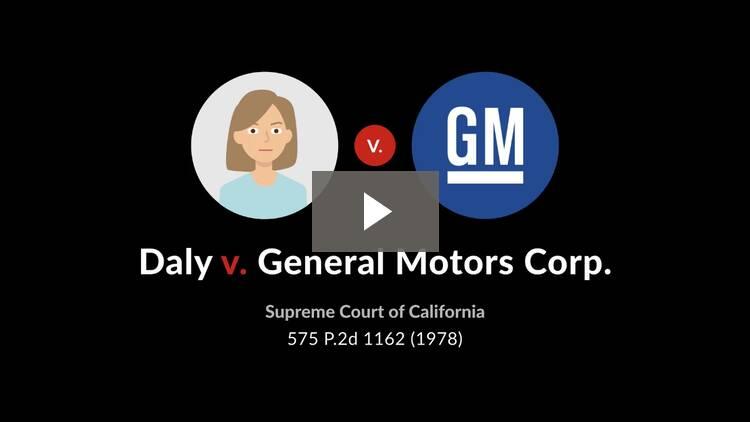 Daly v. General Motors Corp.
