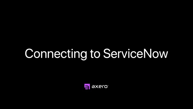 Connecting to ServiceNow