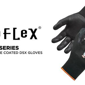 Ergodyne Product Video -  ProFlex<sup>®</sup> 7001 Nitrile-Coated Gloves - ANSI Level 2, Abrasion Resistant, DSX™ Dry Grip