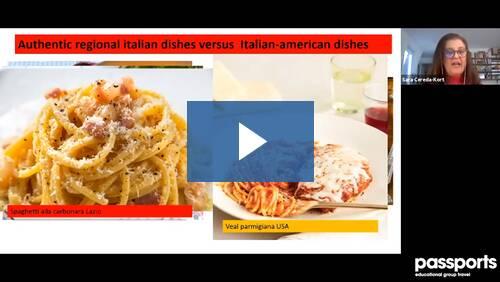 Tour Director Lecture Series: Sara - Authentic Italian Cuisine