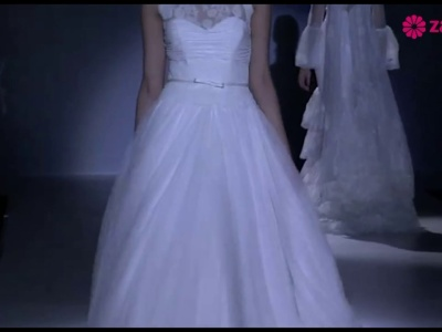 Franc Sarabia 2014: suknie ślubne i sukienki dla gości weselnych.