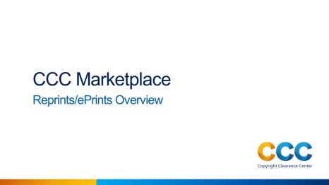 Reprints/ePrints Overview