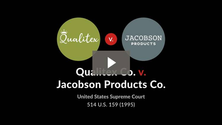Qualitex Co. v. Jacobson Products Co.