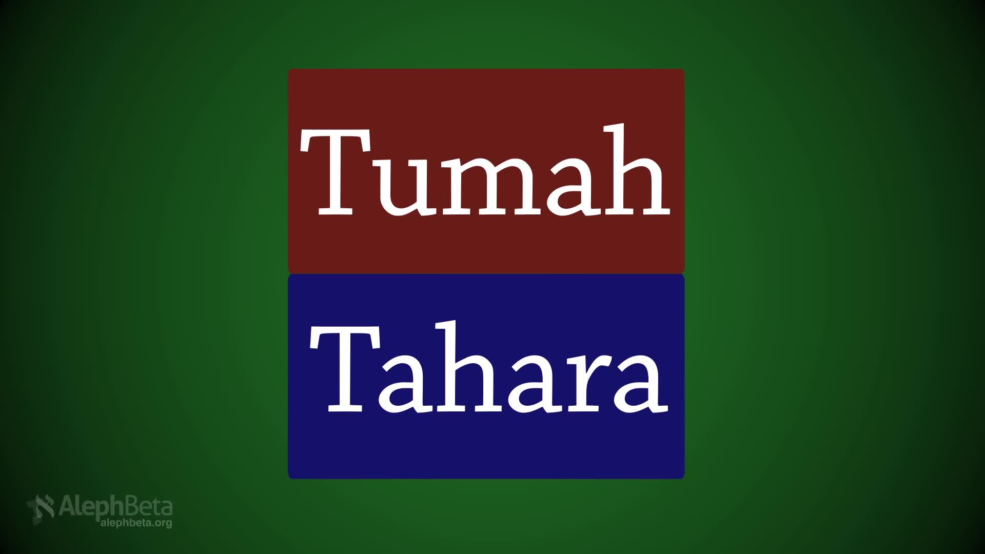 The Parsha Experiment - Tazria: What do Tumah and Tahara Mean Today? Part I