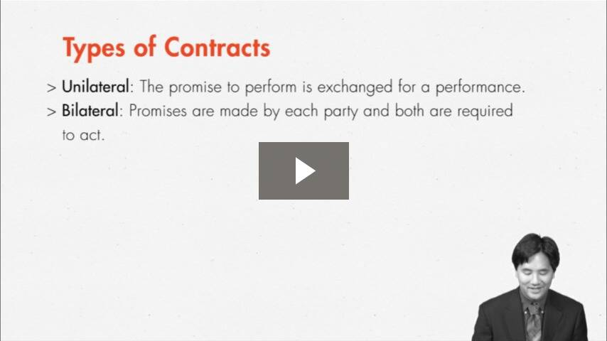 Using Contract Vocabulary and Identifying the Elements of Contract