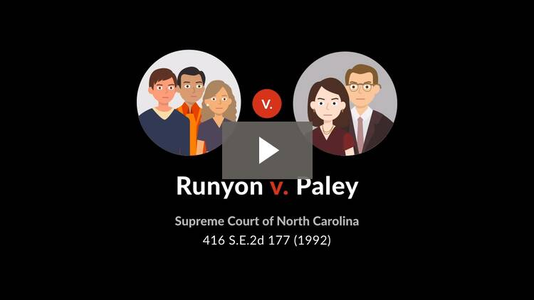 Runyon v. Paley