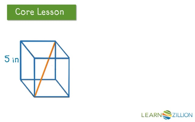 Apply The Pythagorean Theorem To Three Dimensional Figures Using