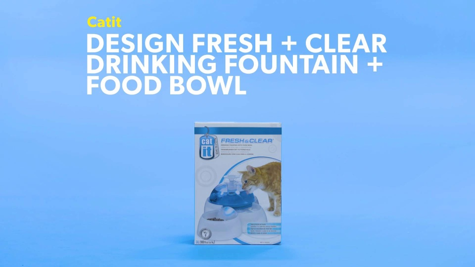 Catit Design Fresh Clear Drinking Fountain Food Bowl Chewy