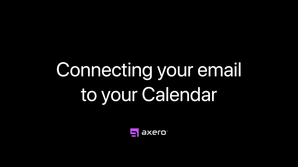 Connecting your email to your Calendar