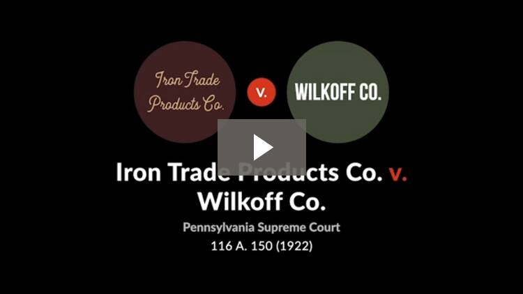 Iron Trade Products Co. v. Wilkoff Co.