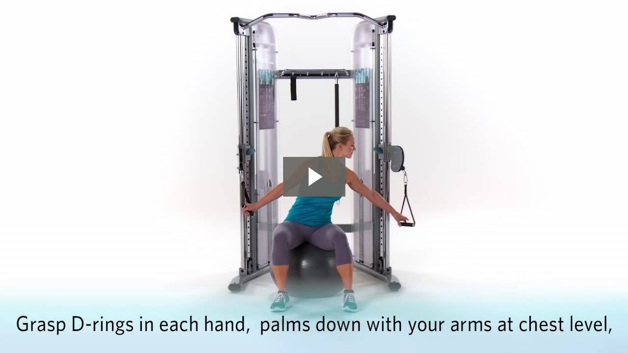 Seated Chest Press with Ball