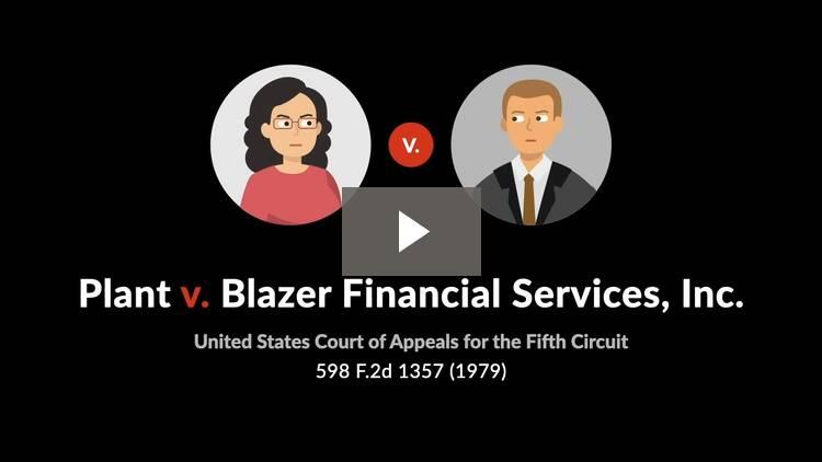 Plant v. Blazer Financial Services