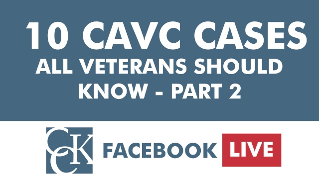 10 CAVC Cases Every Veteran Should Know – Part 2