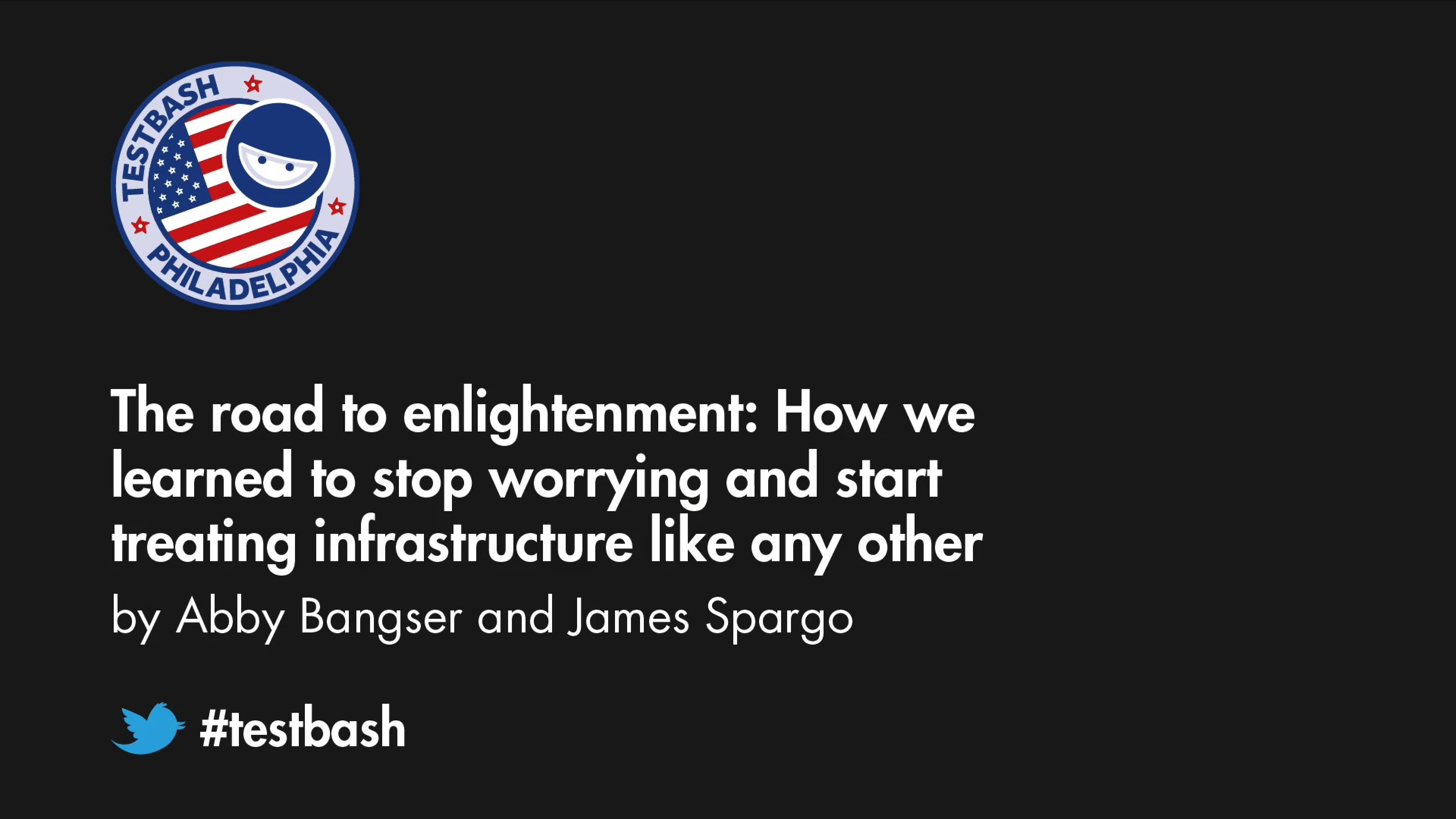 The road to enlightenment: How we learned to stop worrying and start treating infrastructure like any other feature –...