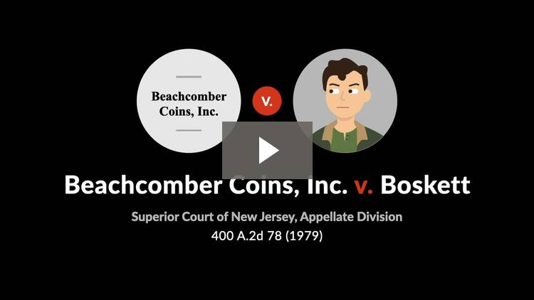 Beachcomber Coins, Inc. v. Boskett