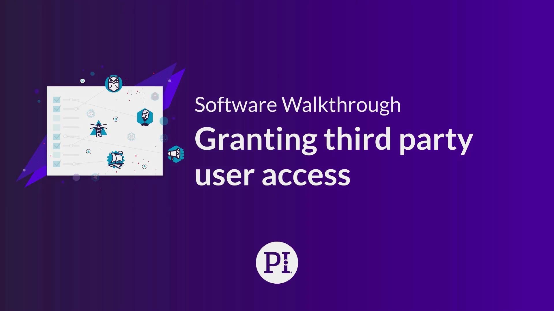 Granting Third Party External User Access
