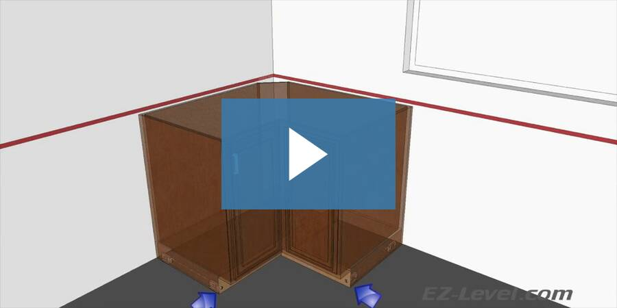 How To Install And Level Corner Cabinets