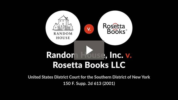 Random House, Inc. v. Rosetta Books LLC