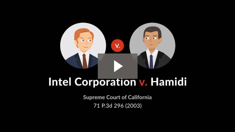 Intel Corporation v. Hamidi