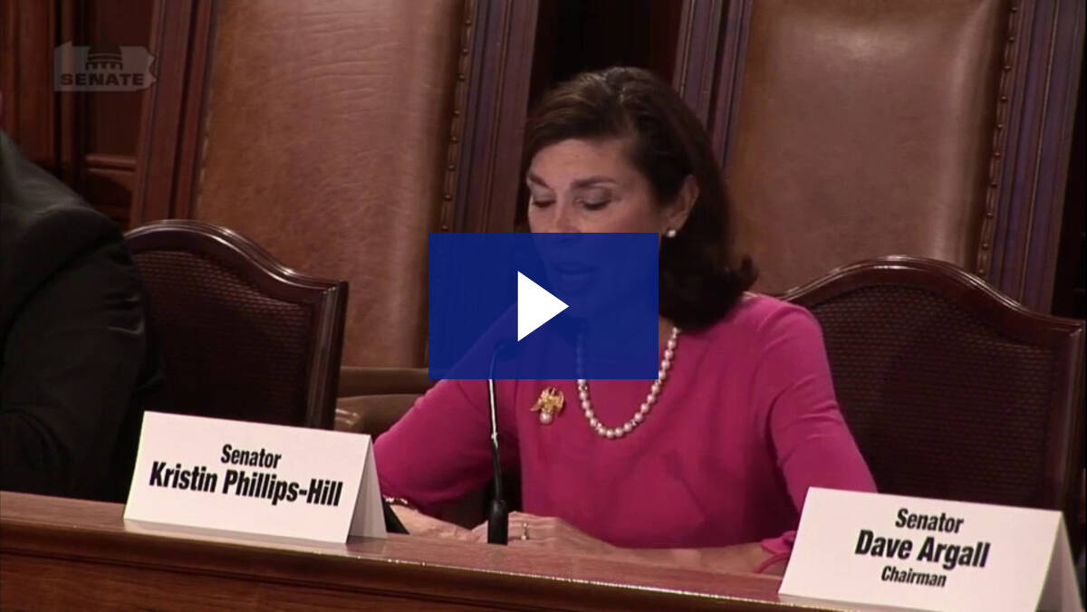 10/5/21 - Senate State Government Committee Public Hearing