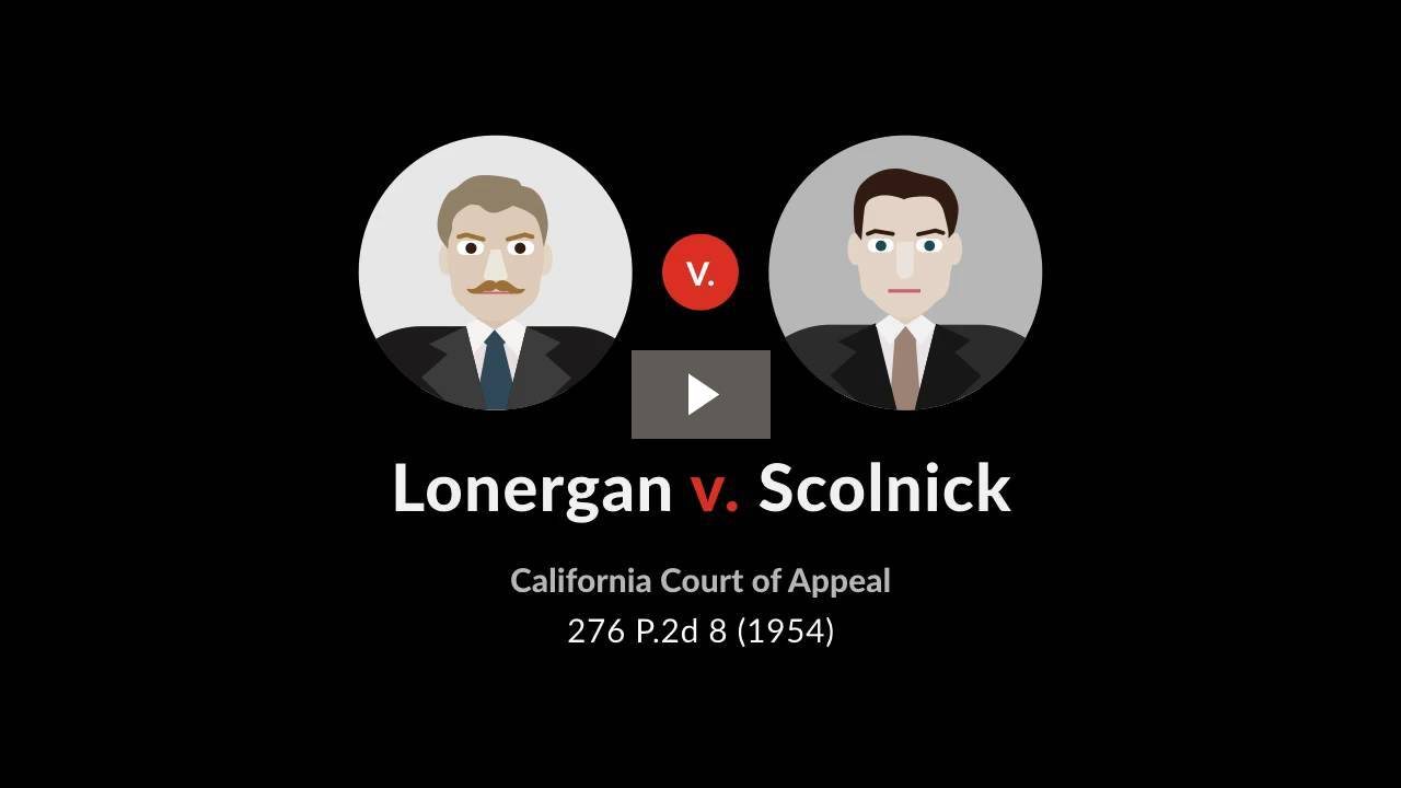 Lonergan v. Scolnick