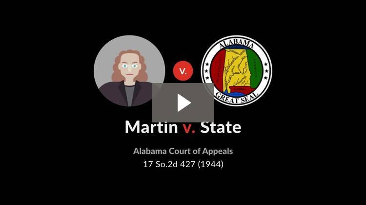 Martin v. State